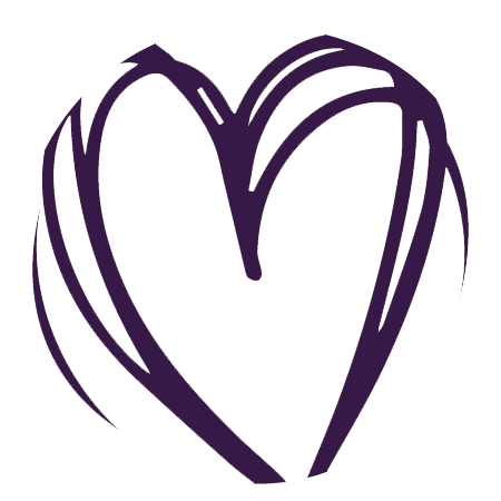 Icon of heart in a circle.
